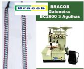 Máquina de Costura Galoneira Portatil 3 Agulhas Bracob - BC2600-3 110V