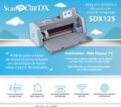 Máquina de recorte com Scanner 600dpi- ScanNCut Brother , USB, TOUCHSDX125