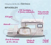 Máquina de Bordado Brother BP1430l - Bivolt (Nova Nq1400e)