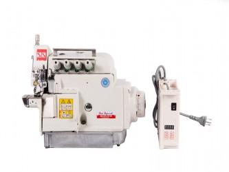 Máquina Costura Industrial Overlock 3 Fios,Cilíndrica Motor Direct Drive SSQ-90-D3 Sun Special
