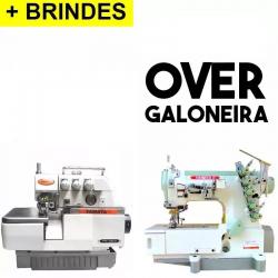 Kit= +Galoneira+Overlock Industriais, completas -Yamata-1 Ano Garantia
