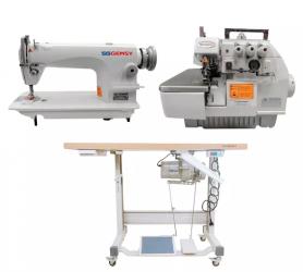 Máquina Costura Industrial Gemsy Reta E Overlock Completa