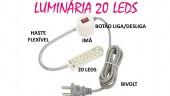 Luminária para maquina de costura 20 Led's com Braço Flexível magnética - YOKE