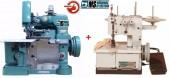 Galoneira 2Agulhas + Overloque Semi Industriais Com motores Acoplados