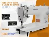 Máquina de Costura Industrial-Reta Direct Drive/Corte de Linha,5000PPM 1 Agulha, MSG-8801D1-Mega Mak