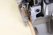 Overloque 4  Fios( Ponto Cadeia ) com tranporte Superios, transporte Duplo, 7500 rpm-Direc Drive -JACK